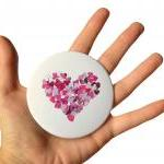 Purple Heart Pocket Mirror