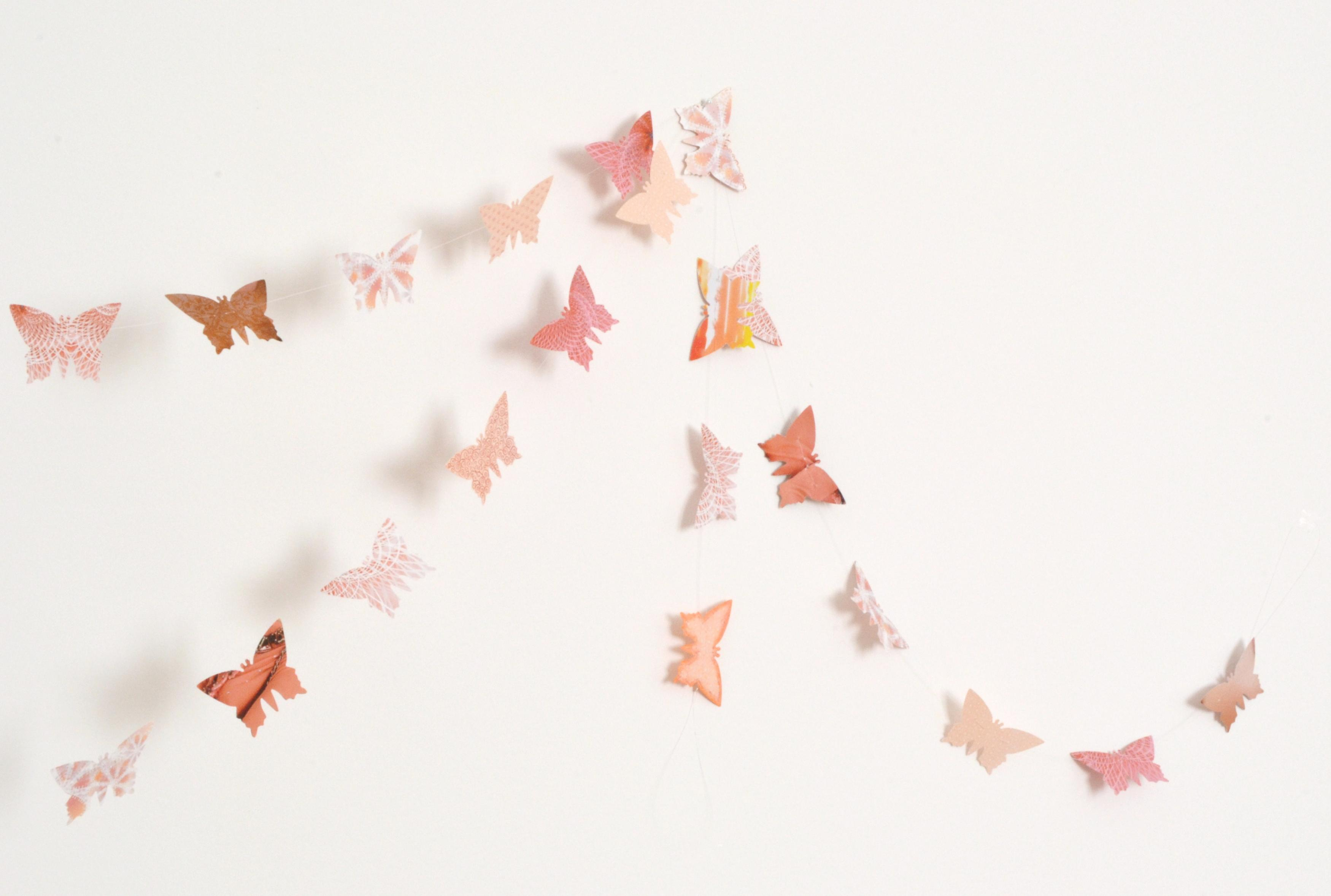 This pretty paper butterfly garland is a sinch* to make, and it's likely you have all the materials required sitting in your craft cupboard already. I made a.